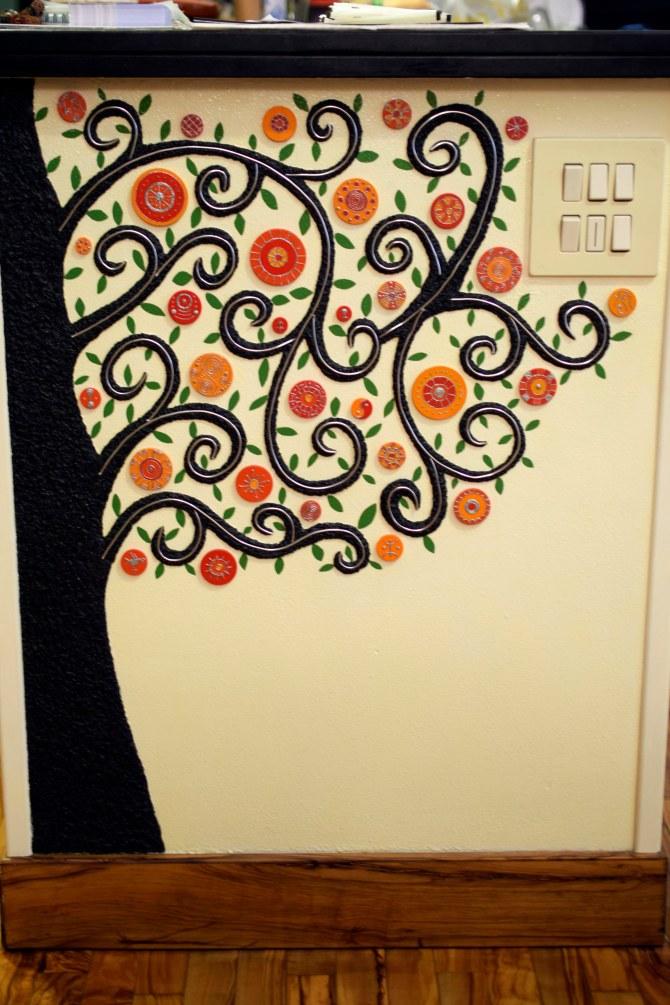 Murales in soggiorno